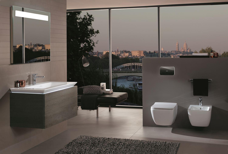Eine Reduzierte Einrichtung Kann In Ihrem Bad, Durch Den Einsatz Von Warmen  Holztönen Entgegenwirken, Ohne Dabei Den Puristischen Charakter Zu Stören.